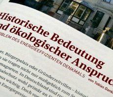 Artikel in der Fachzeitschrift Denkmalsanierung